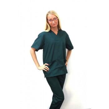 Costum medical verde inchis - unisex