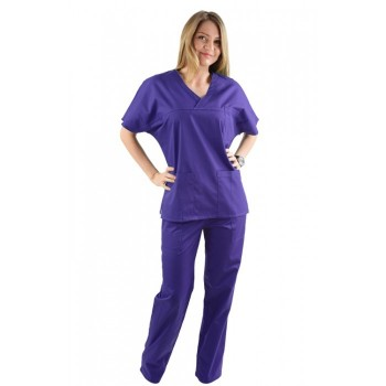 Costum medical mov inchis - unisex
