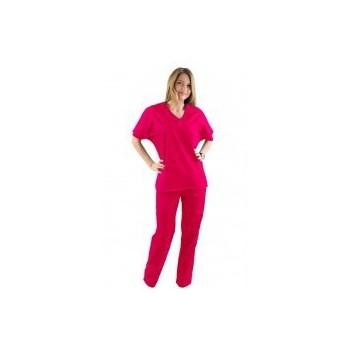 Costum medical ciclam - unisex